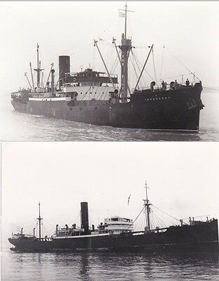 Henderson Line steamers IRRAWADDY (1928), MANDALAY (1911) two photographs