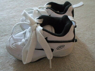 Kids: Size 10 Sneakers with Wheels=Roller Skate Sneakers=White