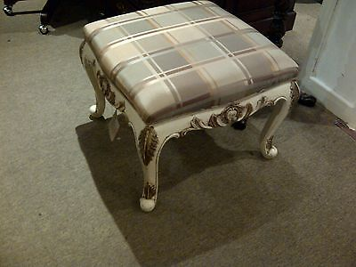 solid wood painted and gilded louis style stool