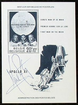 s419) Raumfahrt  Apollo 11 Original Autogramm - authentic signed  Neil Armstrong