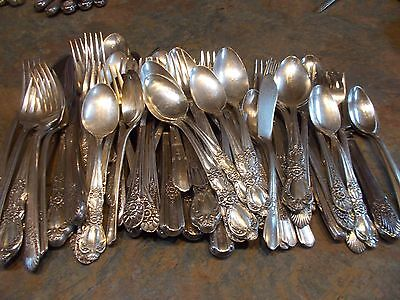 Vintage Lot of Silver Plate- 101 Pieces #2