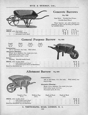 1953 illustration : concrete barrows & others