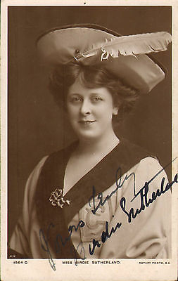 early 1900s postcard : miss birdie sutherland . signed photographic card