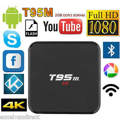 XBMC T95M Quad Core Android6.0 TV Box Fully Loaded Free HD Sport Movies 3D Dolby