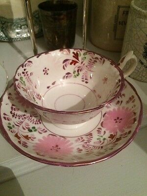 Pretty China Tea Cup Saucer Pink Floral Vintage