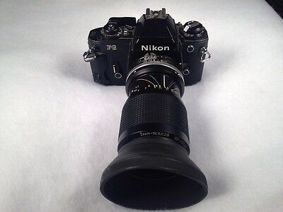 Vintage Nikon Fg Camera W/35-105 Mm Zoom Lens