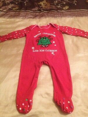 Baby Girls Christmas Baby Grow (12/18 Months