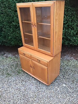 Very Clean Modern Ercol Windsor Display Cabinet/bookcase 2-Man Delivery