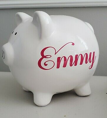 Personalized Ceramic Piggy Bank - LARGE or SMALL - cute, gift, holiday, boy girl