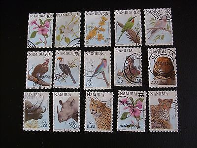 1997 Namibia stamps part set Flowers Birds Animals Catalogue Value £8.75