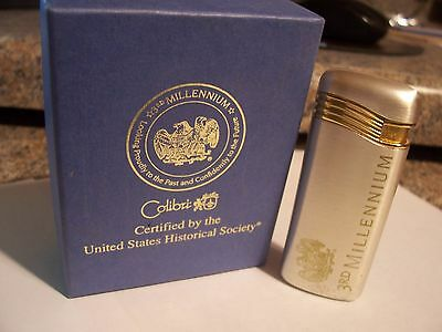 Rare Silver And Gold Colibr Cigarette Lighter Comes New $50 Gift Mom Dad Gift