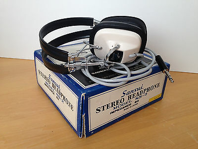 VTG Antique SANSUI Model 22 S Stereo Headphones BOX Excellent Condition