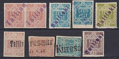 Estonia 1918-1919 stamps with Local cancels