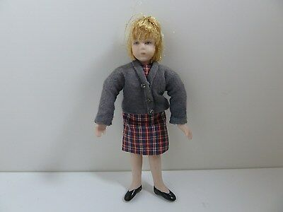 Dolls House Miniature 1:12 Scale Dressed Girl Doll