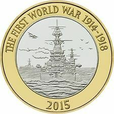 RARE 2015 £2 WW1 - 1 of only 2 designs issued in 2015. Found in circulation