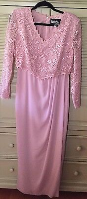 Ursula of Switzerland Pink Mother of the Bride Lace top Gown Size 10