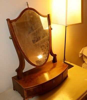 Beautiful And Delicate Antique Wooden Mirror Stand
