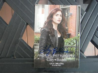 Lily Collins Autographed Mortal Instruments Card Hand Signed