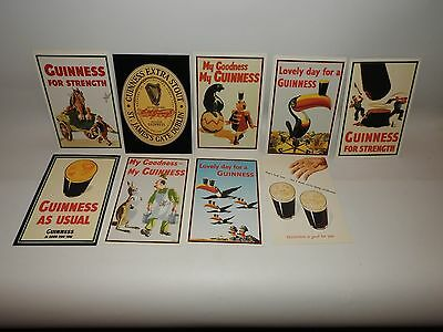 X9 Nine Guinness Postcards Vintage Advertising Unused Condition For Strength