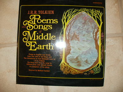 J.r.r. Tolkien Poems And Songs Of Middle Earth Original 1967 Vinyl  Lp Record