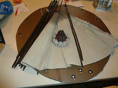 American Girl Doll Accessorie: Kaya's Teepee W/ Battery Operated Fire & Base