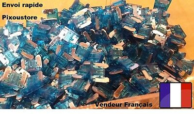 Lot de 5 micro fusibles 15 Amp 15A auto moto automobile voiture 10x11mm 1-24
