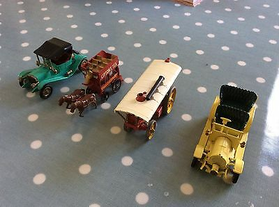 Lesney Models Of Yesteryear Spyker, Maxwell, Traction Engine, London Horse Bus
