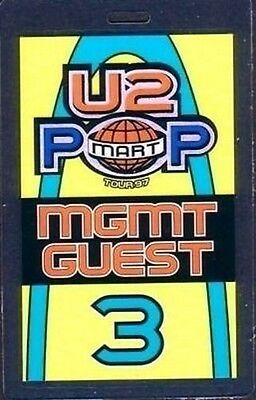 U2 Laminated Backstage Pass POP MGMT guest 3