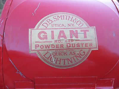 VINTAGE GIANT 44D GARDEN DUSTER D.B. SMITH & Co UTICA, NY NEW OLD STOCK ORIG BOX