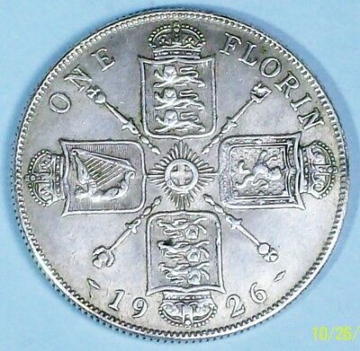 Great Britain Florin 1926 Extra Fine 0.5000 Silver Coin