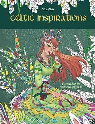 Celtic Inspirations Adult Coloring Book Magical Mystical Animals Fantasy Detail