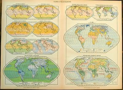 Climate and Vegetation Maps of the World c.1912