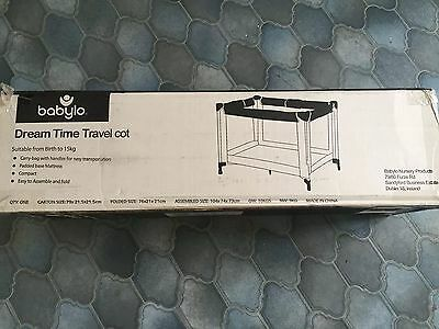 Babylo Dream Time Travel Cot With Mattress BRAND NEW