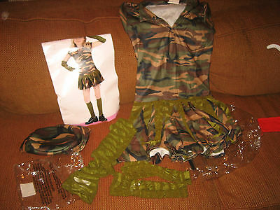 Army Brat Girls Halloween Costume 12-14 With Original Package