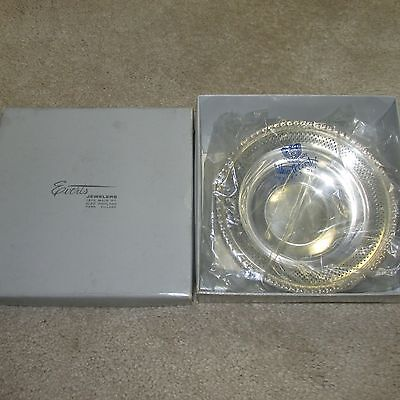 """VINTAGE STERLING SILVER BOWL/DISH BY FISHER #101 (75.8 grams, 6"""" round) - In Box"""