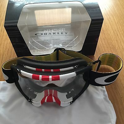 2016 Oakley O Frame Pinned Red Yellow Motocross Goggle Free UK Post KTM CRF YZF