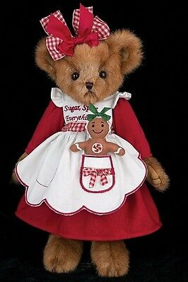 "14"" Ginger Gingersnap Teddy~Bearington Bears~Christmas~Gingerbread~Scented173237"