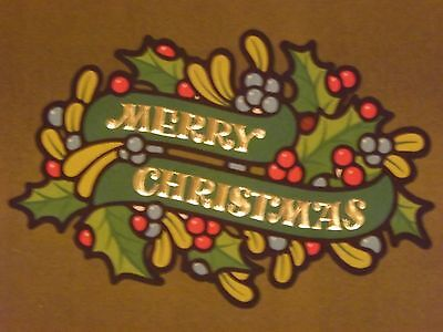 Older Christmas Cards*3*Hampton*Olive Green*Heavy Paper*Unused*Holly*Retro