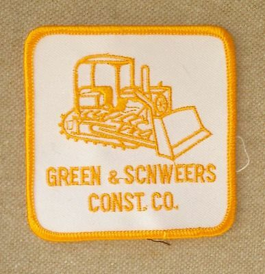 Vintage Green & Scnweers Construction Co Embroidered Uniform Patch Unused