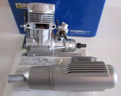 OS 61FX Airplane Engine With E-4010 Muffler  Mint in Box