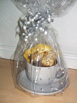 China Cup & Saucer + FERRERO + TEA   GIFT WRAPPED