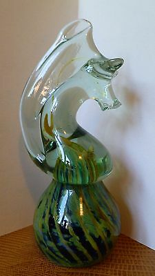 Vintage Mdina Aart Glass Horse Paperweight Signed