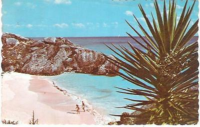 South Shore, Bermuda - secluded cove - postcard, stamp, 1971