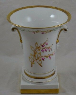 Mottahedeh Vista Alegre Footed Cachepot Old Paris Style Figural Handles Face