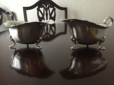 TWO Silver Plated Sauce Or GRAVY BOATS  Looks Nice