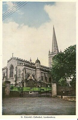 Picture Postcard St Columb's Cathedral Londonderry Northern Ireland