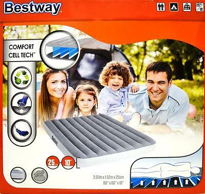 New Bestway Inflatable Comfort Cell Tech Mattress Air Bed 203*152*25cm (#67541)