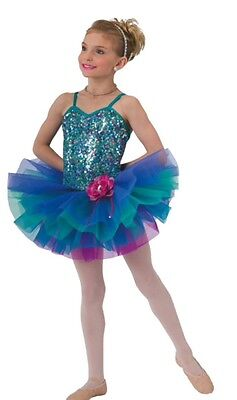 New Costume Gallery #15373 jade Dance ballet tap tutu pageant Large child 12-14