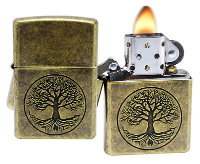 Zippo 29149 Tree of Life Antique Brass Finish Windproof Pocket Lighter New
