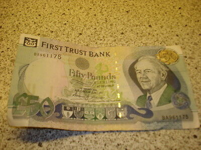 FIRST TRUST BANK £50 (fifty pound) NOTE STERLING.VERY RARE 1998.
